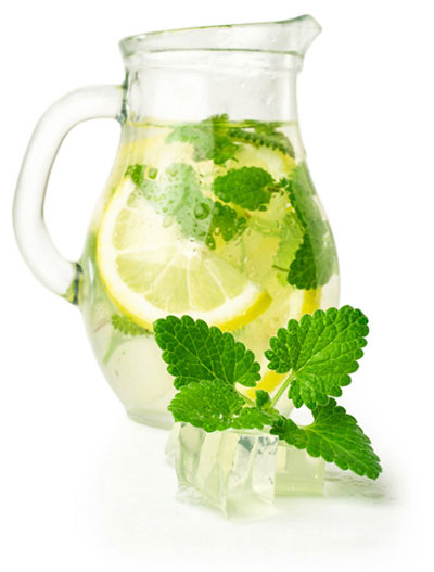 Water with lemon & mint