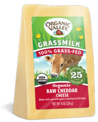 Organic Valley raw cheddar cheese