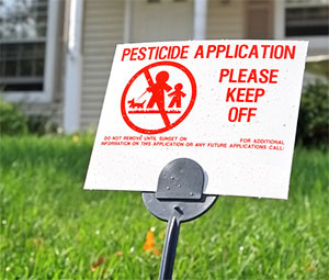 Pesticides in the garden
