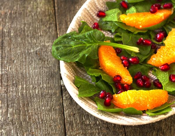 orange spinach pomegranate salad fresh spinach orange wedges ...